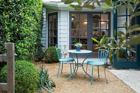 turquoise patio table and chairs cottage deck patio