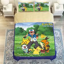 Sport do Well designed Pikachu Cartoon Bedding Set Anime Duvet