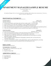 Property Management Resume Rental Manager Leasing Examples Sample Commercial