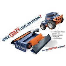 100 Truck Jumps Hot Wheels RC Trick Transforming Stunt Park Vehicle Walmartcom