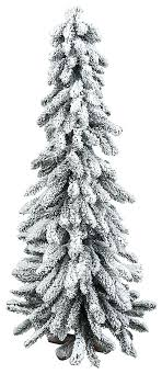 9 Ft Flocked Christmas Tree White With Colored Lights Slim