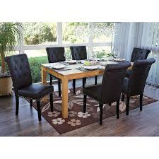 6x esszimmerstuhl chesterfield ii stuhl küchenstuhl nieten kunstleder coffee dunkle beine