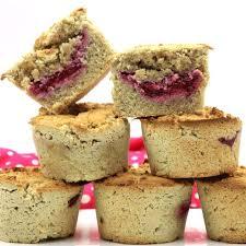 low carb muffins mit mandelmehl und marmeladen füllung