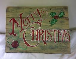 Merry Christmas Pallet Sign Decoration Hand By SawmillCreations