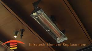 Infratech Infrared Heat Lamp by Infratech Element Replacement Patioheat Com Youtube