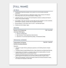 Senior Civil Engineer Resume Template