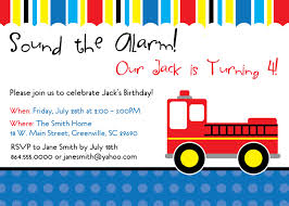 100 Fire Truck Birthday Party Truck Man Invitations Child Kid SET OF 10 Sold By OhCreativeOne LLC