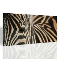 details zu zebra streifen tier wohnzimmer leinwand bild canvas bilder großbild 140x70