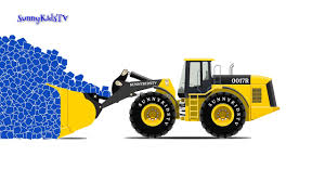 Trucks Cartoon For Children Learn Shapes Wheel Loader |