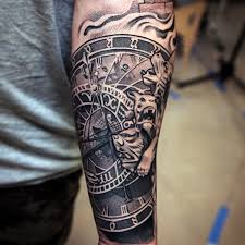 Fancy Mens Forearm Sleeve Tattoo 61 In Designer Tattoos With