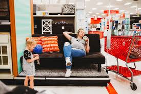 Target Templeton Sofa Bed by Rainbow Baby Pregnancy Photo Shoot At Target Popsugar Moms Photo 6
