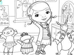 Doc Mcstuffins Coloring Page Disney Family