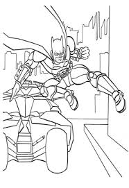 Click To See Printable Version Of Batman Jumps Out His Car Coloring Page