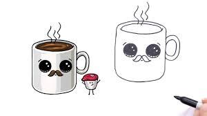 Drawing On A Coffee Mug Cute