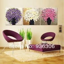 handgemalte moderne bilder auf leinwand dicke abstrakte blumen ölgemälde keine rahmen hängen gemälde für wohnzimmer wand dekor