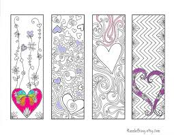 DIY Bookmark Printable Coloring Page Zentangle By RazzleBing