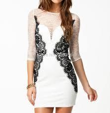 top designer women u0027s party dress white elegant full lace patchwork