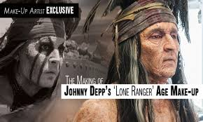the of johnny depp s lone ranger age make up