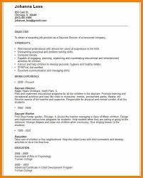 Child Care Resume Objective Exampleswork Template Tbz8ttvl