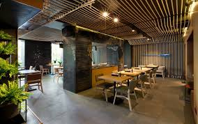 Restaurant Stunning Eating Area Design With Modern Rustic Interior Used Minimalist Elegant Dining Furniture In