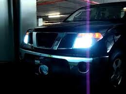07 nissan frontier se with 6000k hid lights and high beam halogens