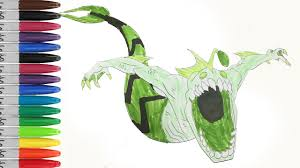 Ben 10 RIPJAWS Screaming Coloring Pages SAILANY Kids