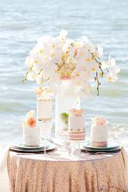 Beach Sweetheart Table Mini Wedding Cakes
