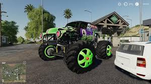 100 Monster Truck Grave Digger Videos Digger Monster Truck V10 FS19 Farming Simulator 19