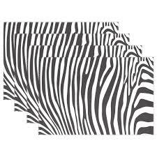 Amazoncom WOZO Black White Zebra Stripe Placemat Table Mat Zebra