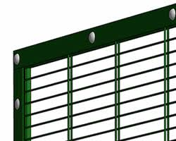 The Drawing Of Anti Climb Fence Installation Including 358 Mesh Fence High Security Welded Panel Fencing Barrier