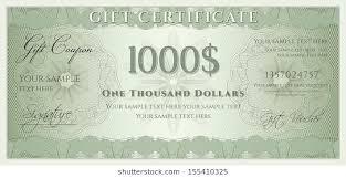 Voucher Gift Certificate Coupon Ticket Template Guilloche Pattern Watermark Spirograph