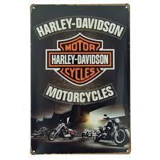 Harley Davidson Retro Metal Tin Sign