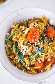 Cheesy Chorizo Orzo With Blistered Tomatoes And Spinach Is A Quick Easy Dinner Simple Ingredients You Will Love The Flavors Of This How Little