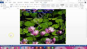 How To Print The Background Of A Word Doc 2013