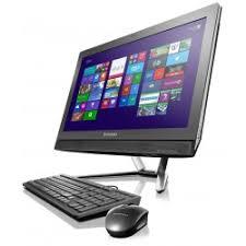 ordinateur de bureau tactile de bureau lenovo all in one c460 tactile noir