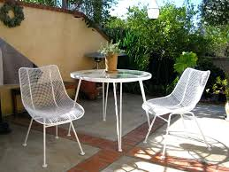 patio ideas white metal bamboo outdoor patio dining set white