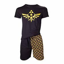 the legend of zelda triforce pyjamas black yellow amazon co uk