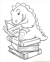 10 Pics Of Reading Cartoon Coloring Pages