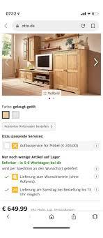 wohnwand wohnzimmerschrank in 47475 k lintfort für 1 00