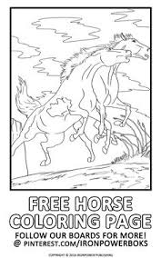 Horse Coloring Page For FREE