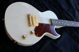 Rusch Guitars Les Paul Jr 2016 Relicd White