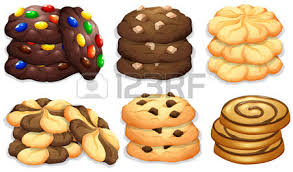 Different flavour of cookies illustration Vector