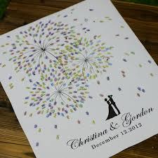 Personalized Fingerprint Wedding Guest Book Fireworks Theme Thumb Print Alternative Planner 6 Inks