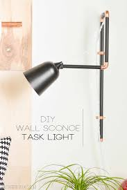 diy wall sconce task lights a target update vintage revivals