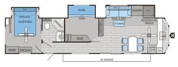 Wildwood Fifth Wheel Floor Plans Colors 2 Bedroom Travel Trailer Floor Plans 2017 Wildwood Heritage Glen