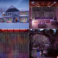 Icicle Lights In Bedroom by Amazon Com Led Concepts 300 Led Curtain String Icicle Fairy
