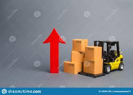100 National Lift Truck Service Yellow Forklift With Cardboard Boxes And A Big Red