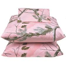 Twin Bed In A Bag Sets by Realtree Pink Camo Sheet Set On Sale Pink Camo Bedding Buy Here