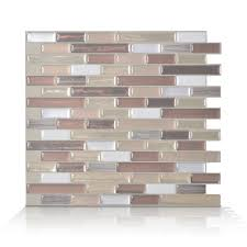 Lowes Canada Bathroom Floor Tile by Smart Tiles 6 Pack 9 X 10 Muretto Durango Peel And Stick Vinyl
