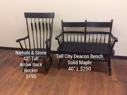 Nichols And Stone Rocking Chair And Tell City Deacons Bench ...